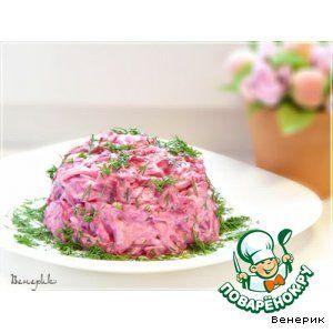 Рецепт: Салат из сыра, яиц и свеклы