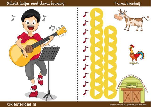 Allerlei liedjes rond thema de boerderij, kleuteridee by juf Petra (interactief)