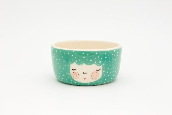 Mint ceramic dish  Mint serving bowl  Planter by MarinskiHandmades