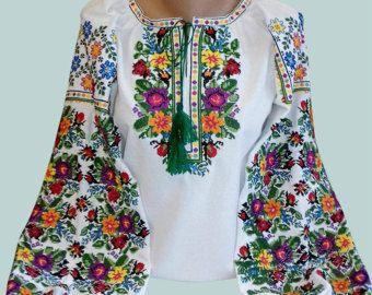 Fiore delle donne camicetta ricamata - ricamo ucraino - camicia per la primavera