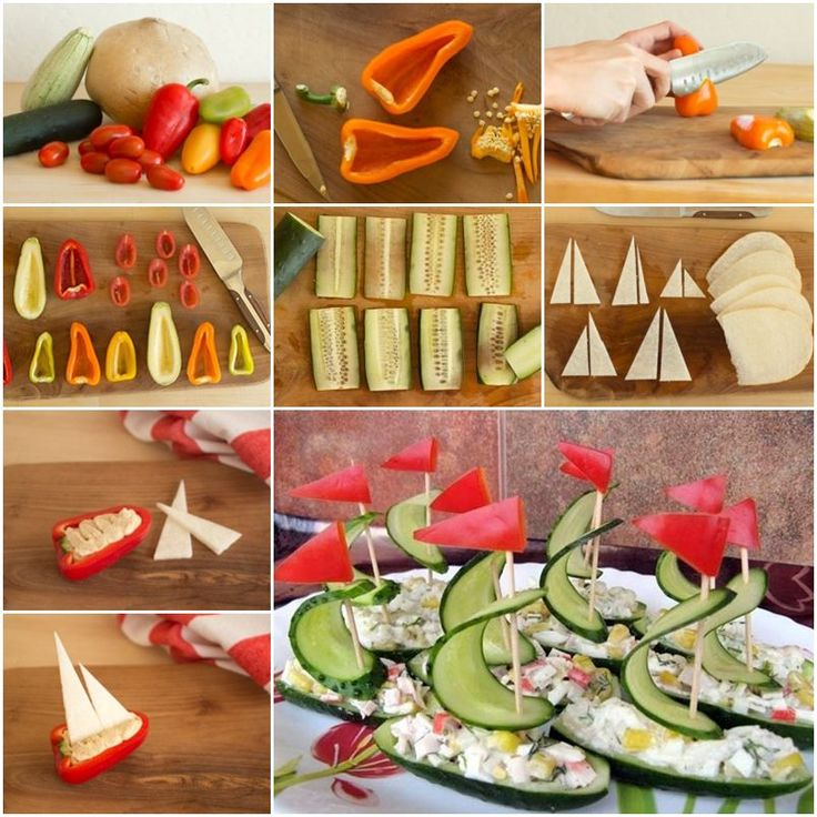 DIY Amazing Salad Decoration Vegetables Boat