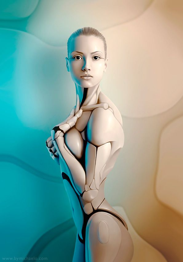 Digitally Reworked Photos Turn Women into Androids - My Modern Metropolis