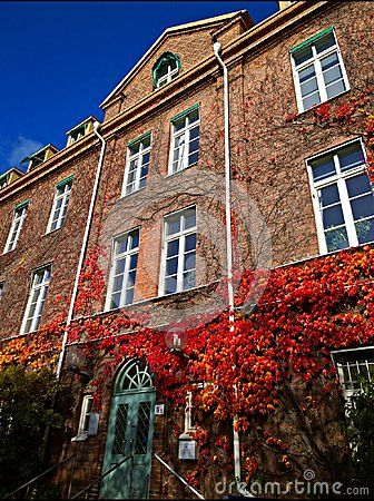 An autumn shot of one of the university buildings in Lund, Sweden.