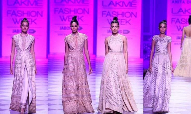 Taj Mahal Tea presents Anita Dongre with her gorgeous #bridal couture. #lakmefashionweek #winterfestive2014 #Inspiration to create your #fabrics and designs! Digitally print your own unique fabric and style your own wardrobe in India. #fashion #print www.chimoraprint.com