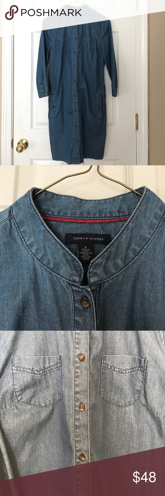 Tommy Hilfiger denim Tshirt dress In excellent used condition, only worn once. Tommy Hilfiger Dresses Mini