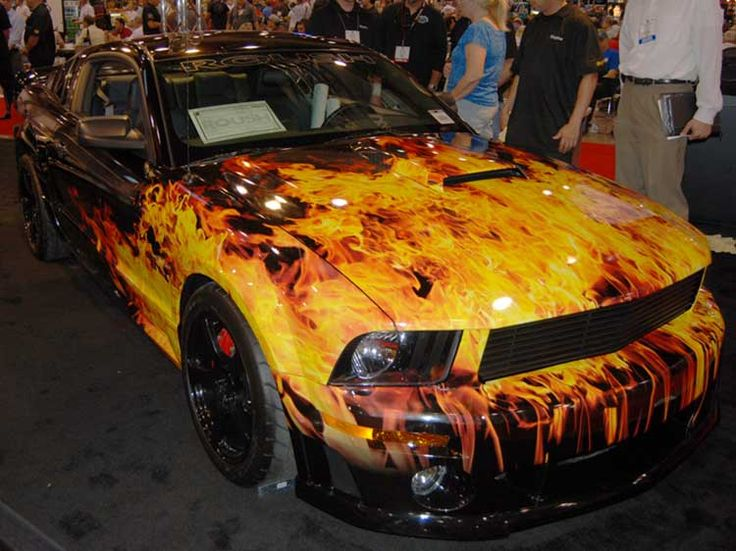 Cars With Flames Painted Good Flames Quality Wrap Job