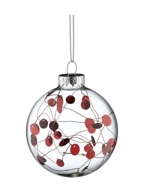 Lasinen joulupallo