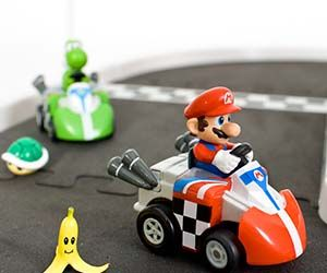 For any Mario Kart fan who needs a little boost of energy at work, check out these mini Mario Kart R/C Cars. These radio-controlled cars can zoom around any...