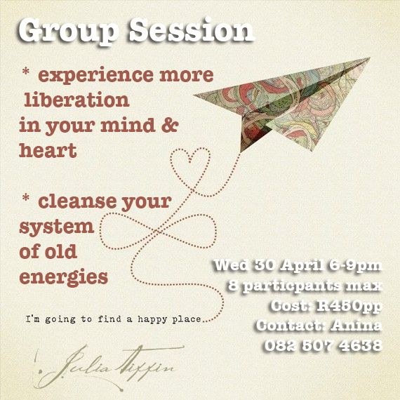A special session to help people feel more freedom. http://juliatiffin.com  #returntothesacred