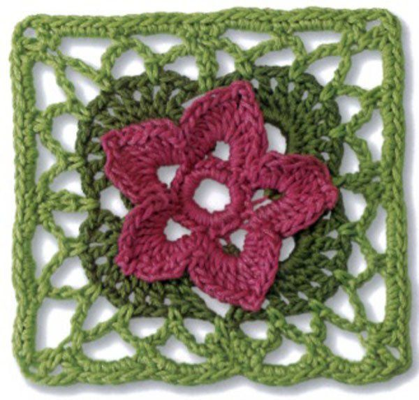 Agranny squareis a piece of squarefabricproduced incrochetby working in rounds from the center outward. Granny squares are made separately and then assemb