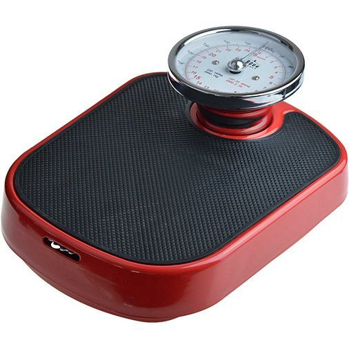 Tesco direct: Harbour Housewares Traditional Red Bathroom Scales - 25st (160kg)