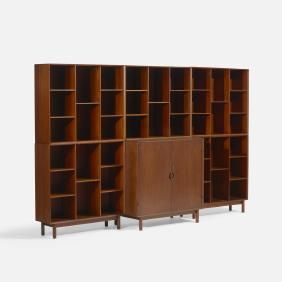 Lot: Peter Hvidt & Molgaard-Nielsen, modular storage unit, Lot Number: 0349, Starting Bid: $1,500, Auctioneer: Wright, Auction: Scandinavian Design, Date: May 18th, 2017 EDT
