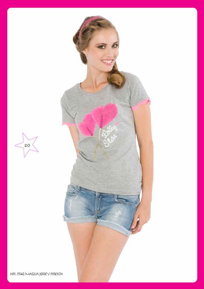 #Tshirt Jersey Stretch #LollyStar - Scopri tutta la collezione #SpringSummer qui --> http://www.lollystar.it/