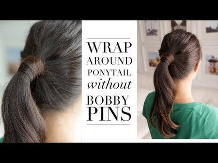 How to Wrap Around Ponytail without Bobby Pins Bellashoot.com