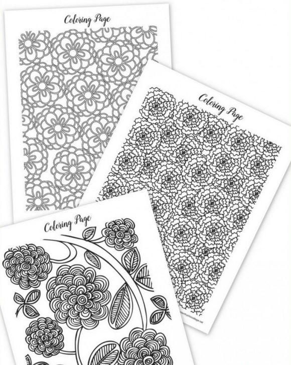 Printable coloring pages for spring.