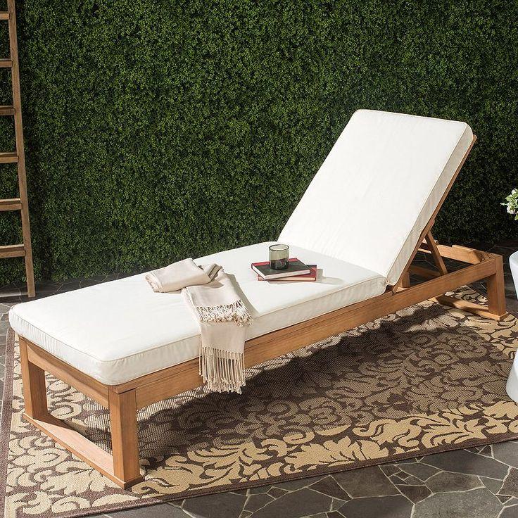 Safavieh Solano Sun Chaise Lounge | Sun lounger, Patio ... on Safavieh Outdoor Living Solano Sunlounger id=18409