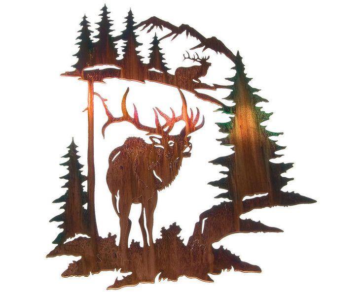 Splendor of the Elk Metal Wall Art Hanging