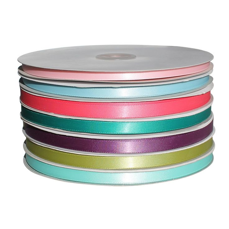 Single Face Satin Ribbon Stock Colours- 1/4