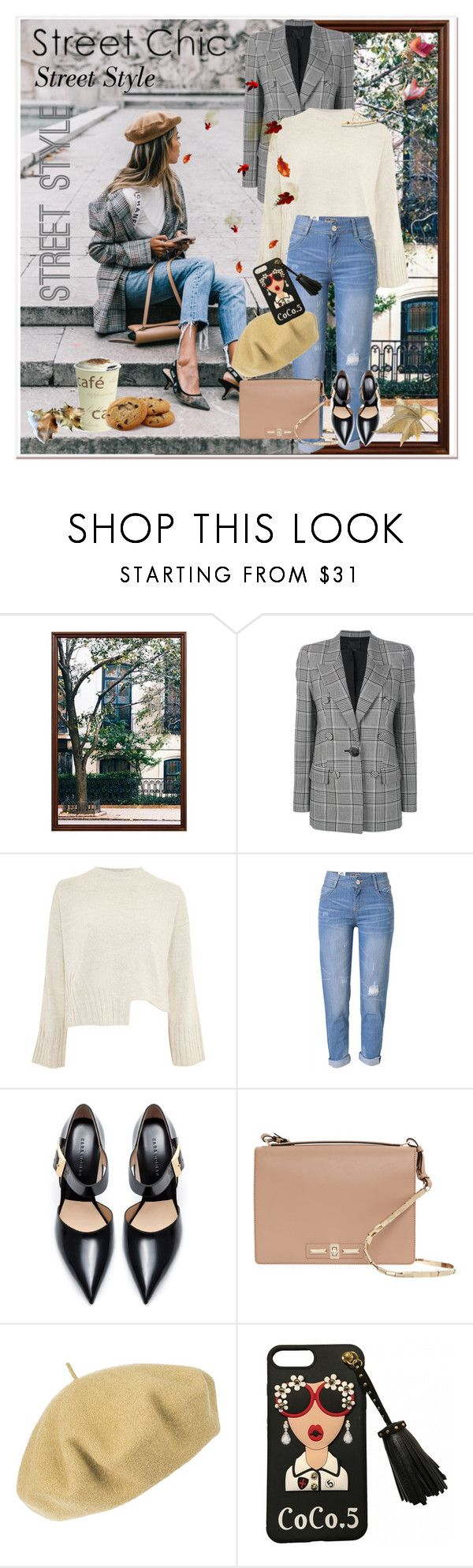 """Journi's ""Street Style Outfit"" For Contest"" by carmen-ireland ❤ liked on Polyvore featuring Pottery Barn, Alexander Wang, Topshop, WithChic, Zara, Valentino and Betmar"