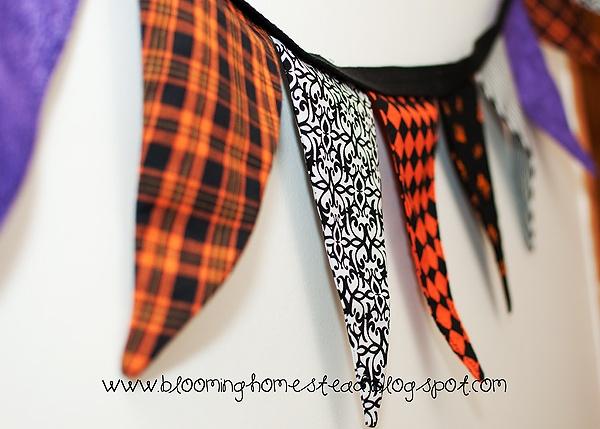 Halloween: Halloween Fabrics, Fabrics Bunting Bann, Fall Halloween Ideas, Fabrics Buntings Bann, Halloween Crafts, Holidays Decor Crafts, Fabrics Banners, Halloween Buntings, Halloween Banners