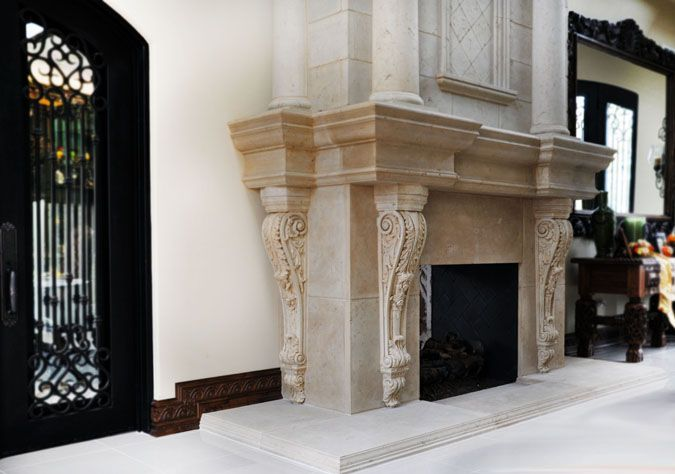 Faux Marble Fireplace Surround
