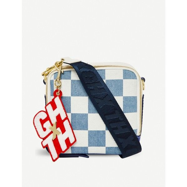 Tommy Hilfiger X Gigi Hadid cross-body bag ($115) ❤ liked on Polyvore featuring bags, handbags, shoulder bags, white purse, zip shoulder bag, tommy hilfiger shoulder bag, white crossbody purse and detachable key ring