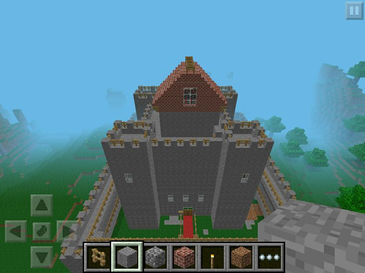 how to build a castle in minecraft pe