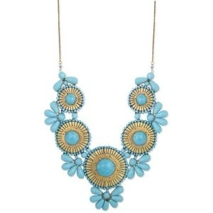 Turquoise Indian -inspired statement necklace. Jadore