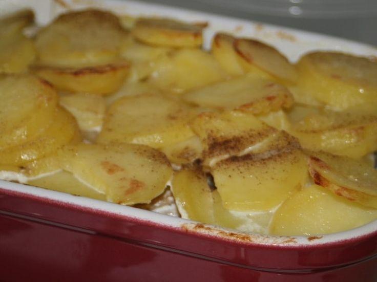 Gratin de pommes de terre au hareng fumé
