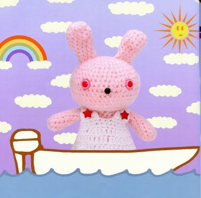 FREE Amigurumi Bunny Rabbit with Dress Crochet Pattern and TutorialFunky Bunnies, Crochet Toys, Lion Brand Yarn, Amigurumi Bunnies, Dresses Free, Amigurumi Pattern, Crochet Bunnies, Crochet Patterns, Bunnies Amigurumi