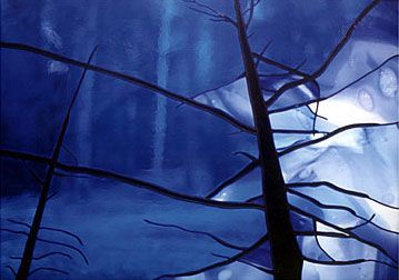 Winter stained glass trees, brr, makes me feel cold. Torr Lith Stained Glass