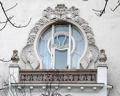 Városligeti Fasor beautiful window - Budapest Hungary