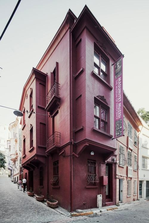 Museum of Innocence by Orhan Pamuk.   Painted blood red, it stands out in its gentrified but still scruffy neighbourhood. ~tumblr~