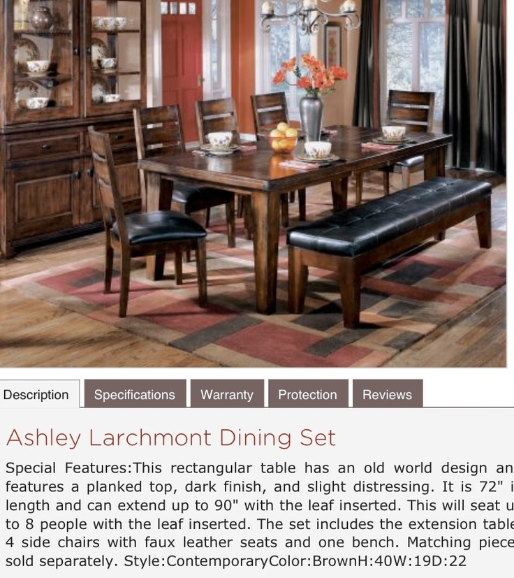 Signature Design By Ashley Larchmont Rectangular Extension Table 5 Chairs And 1 Bench