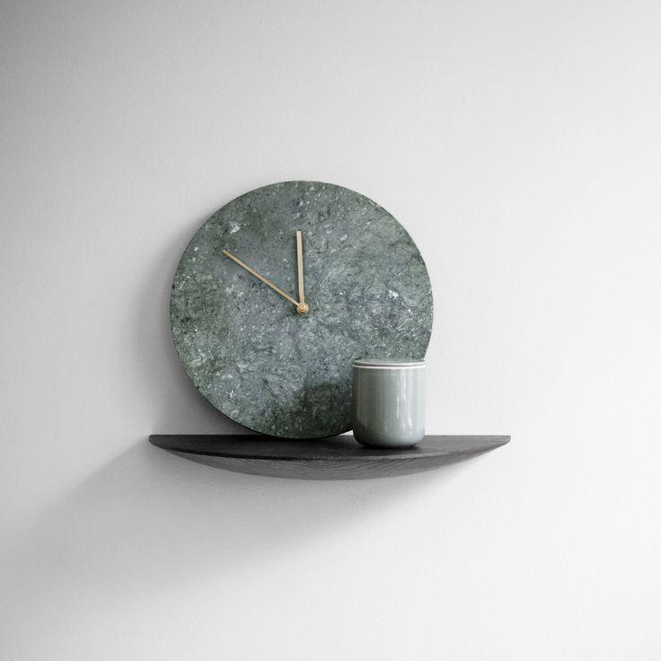 Zegar ścienny Marble Clock, zielony - MENU - DECO Salon