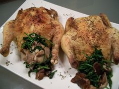 cornish hens - healthy - fall - recipe - tone it up - FITalian - spinach - mushroom - thyme - savory - thanksgiving - stuffing -
