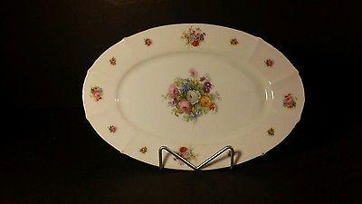 Eamag Bavaria W. Germany Porcelain Crown Mark Oval Platter with Gold Trim