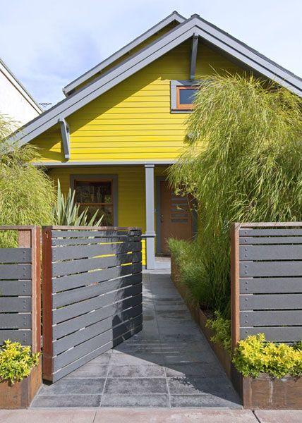 Horizontal slat fence detail, 2 tone combo done right!
