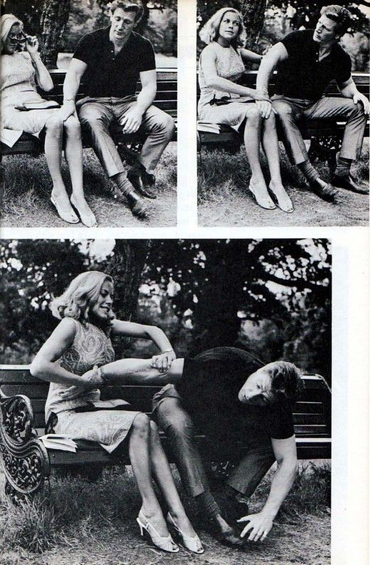 "From ""Honor Blackman's Book of Self Defense"", 1965.   Blackman played Pussy Galore in a James Bond film."