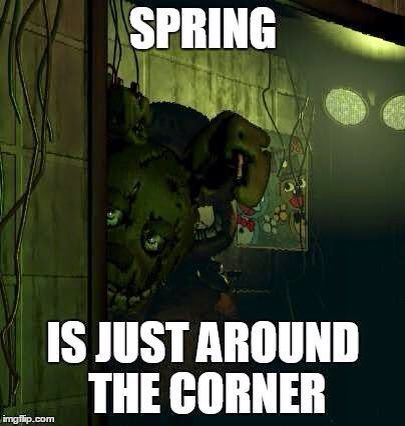 Five Nights at Freddy's 3 Springs around the corner