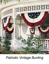 I love the gingerbread above the bunting on this porch!