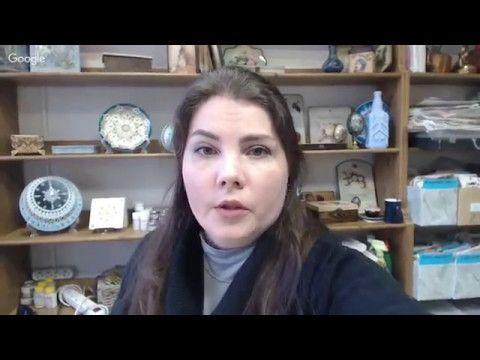 Ирина Ярощук.  Чайный короб с имитацией кружева.