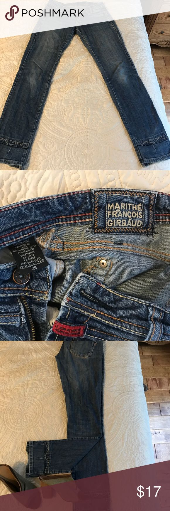 Jeans Marithe Francois Girbaud Jeans Marithe Francois Girbaud, s. 26 GENTLY USED Marithe Francois Girbaud Jeans Straight Leg