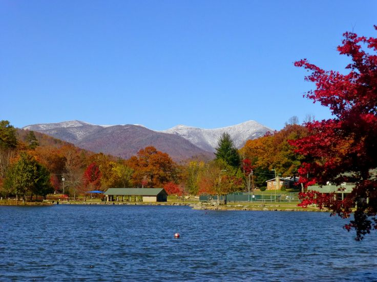 Lake Tomahawk in Black Mountain with snow on the Blue Ridge Parkway! Late October 2014