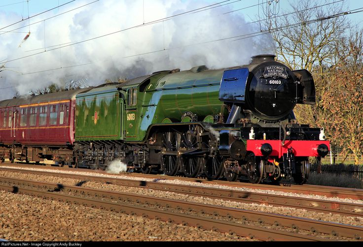 The National Railway Museum's recently refurbished A3 Pacific No 60103 'Flying Scotsman' heads south from York to London, to make ready to haul its first passenger train on the East Coast Main Line since a £4M and 10 year rebuild