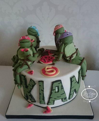 Gâteau d'anniversaire Teenage Mutant Ninja Turtles | par les gâteaux de Jo …   – Gateau Anniversaire