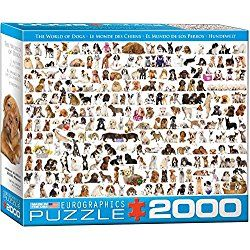 EuroGraphics The World of Dogs Jigsaw Puzzle (2000-Piece)