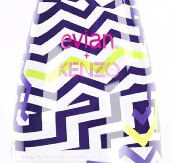Posicionada como una de las marcas de ropa japonesa más creativas y coloridas actualmente, no nada más por sus prendas, también por sus campañas de publicidad, KENZO ahora presenta una colaboración con la marca de agua embotellada Evian.
