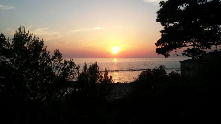 a beautiful sunset at the Palazzo Belmonte!!!