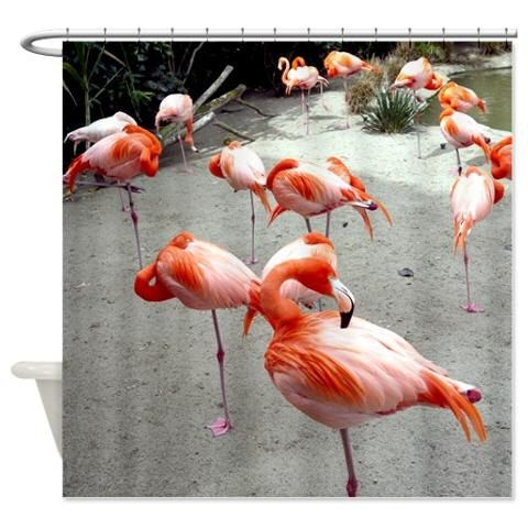 Fabric shower curtain, flamingo shower bird bathroom curtain, tropical shower curtain bath decor, bathroom accessories nature shower curtain by OurArtCloset on Etsy https://www.etsy.com/ca/listing/227303020/fabric-shower-curtain-flamingo-shower